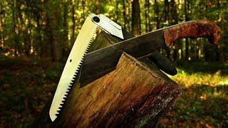 Säge vs Messer Im Survival Training - Ausrüstung für Outdoor