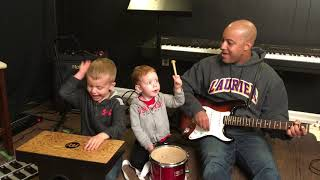 Jamming With My Boys - Theon (4) and Desmond (2)