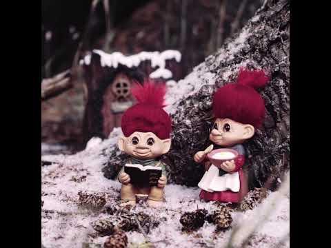 Grandmother and Grandfather Pinedam! Christmas trolls