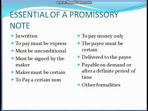 PROMISSORY NOTES ( NEGOTIABLE INSTRUMENTS) BUSINESS LAW