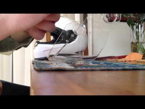 Installing a Pinlock insert onto a Schuberth S2 face shield