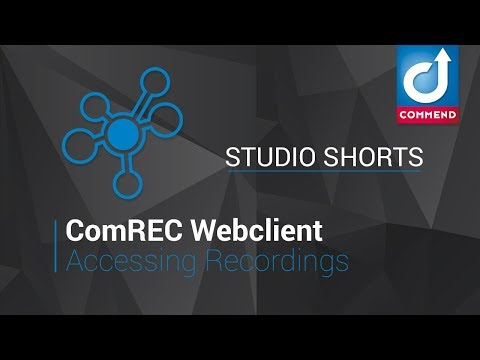 Studio Shorts - Accessing Recordings in the Web Client
