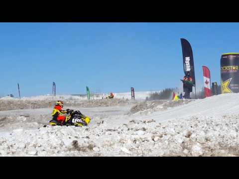 Dave Joanis racing CSRA National Snowcross Timmins ON March 4th 17