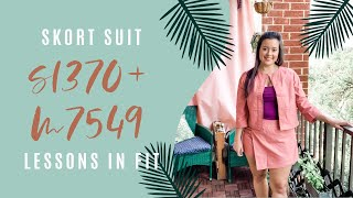 Coral Twill Skort Suit Set Sewing Fails(ish)  |  M7549 + S1370