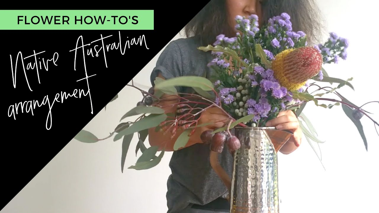 DIY Australian Native Flower Arrangement - YouTube