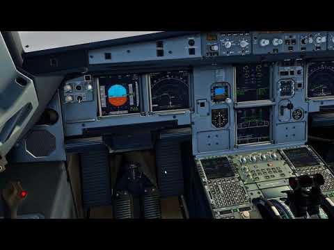 X-Plane 11 | Its snowing in Hamburg | ILS cat3 A320