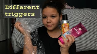 ASMR- different triggers (triggers from my 30 trigger video)