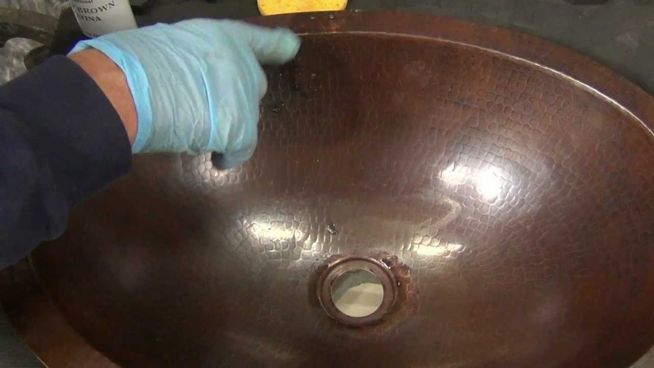 Good Copper Sink Patina Repair   YouTube