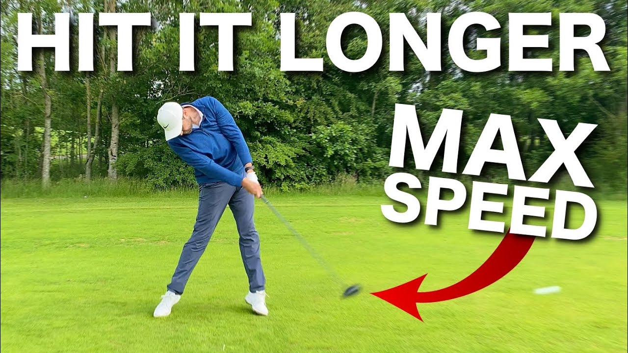 HOW TO HIT THE GOLF BALL LONGER & INCREASE CLUB HEAD SPEED!
