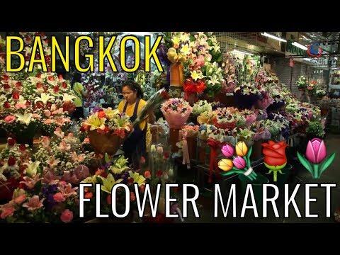 Bangkok's iconic night flower market - 'Pak Klong Talad'