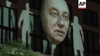 Hitler image appears in Berlin art installation