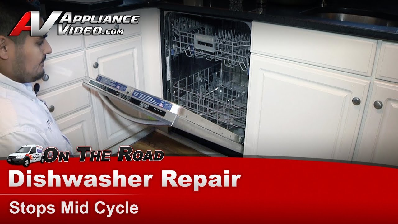 KitchenAid & Whirlpool Dishwasher Repair & Diagnostic -Making noise & Stops  Mid Cycle