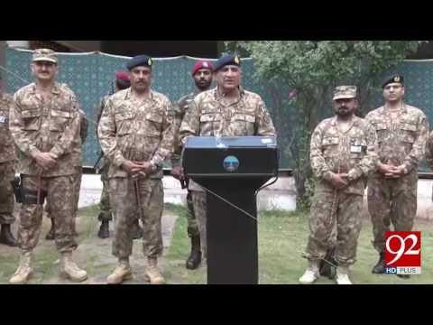 Army Chief Visits Nakyal Sector At LOC 13-05-2017 - 92NewsHDPlus