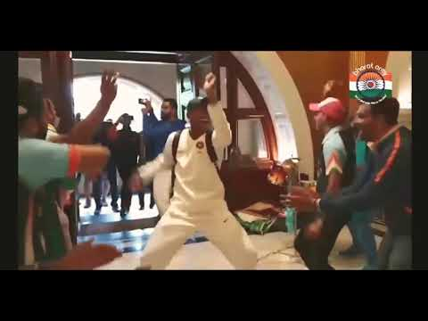 Team india and Bharat Army Celebration after Historical series victory
