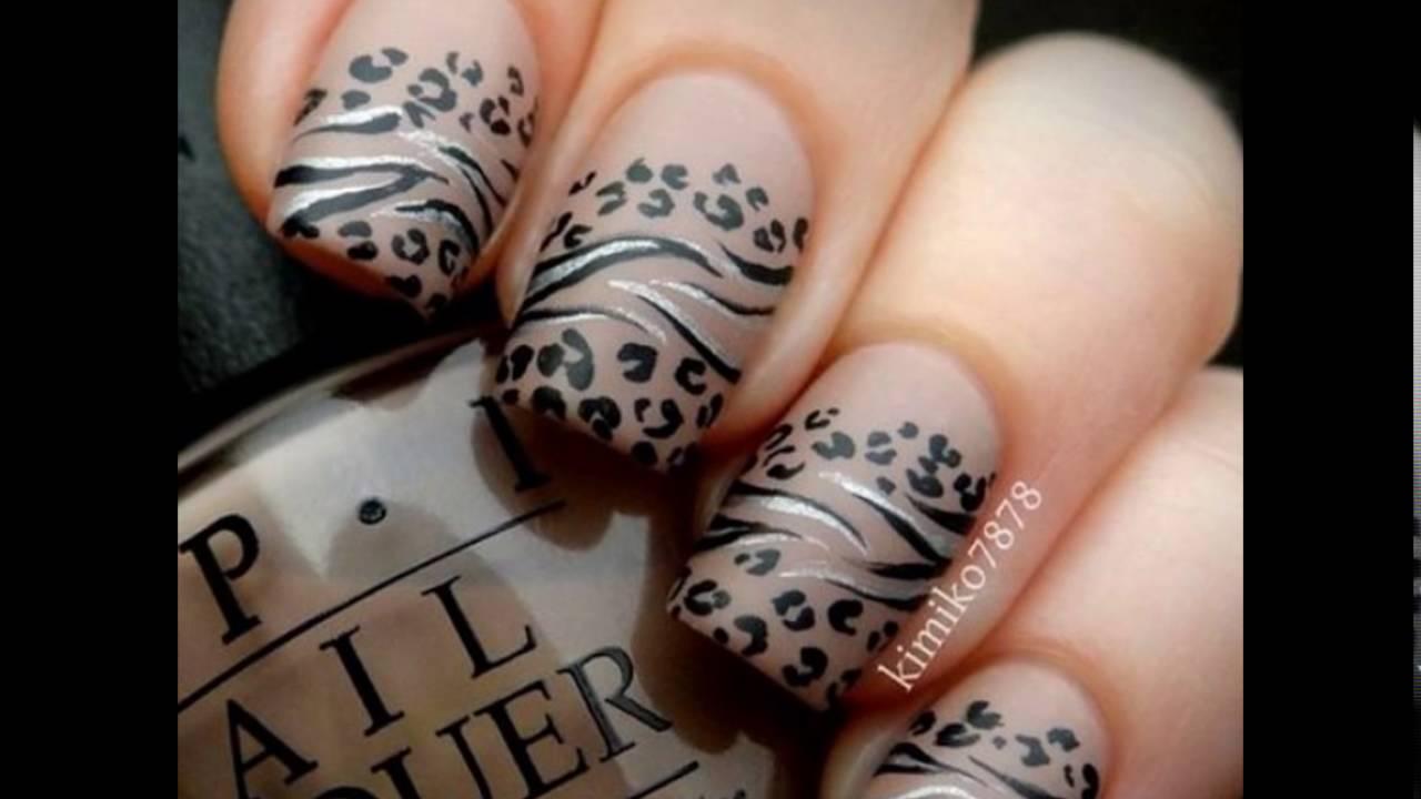Nail Art Tiger Design Nails Youtube