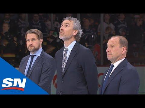 Canucks Celebrate Legends Stan Smyl, Trevor Linden, Pavel Bure And Markus Naslund