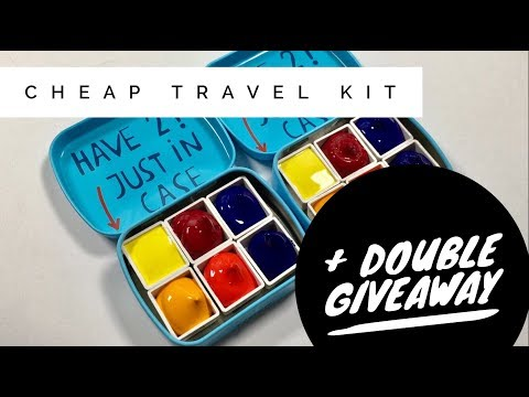 CONTEST CLOSED: Tiger Cheap Watercolor Travel Kit + Giveaway