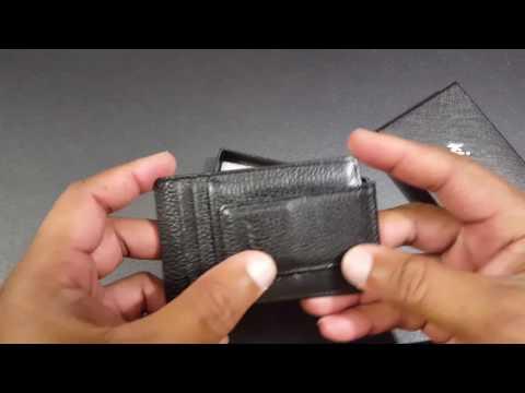 9fa95906010e Magnetic Money Clip Mens Leather Wallet Soft Front Pocket Wallet ...