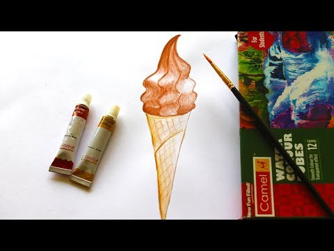 How To Draw Soft Serve Icecream With Coloring | Easy Art For Beginners