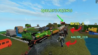 Thomas and Friends Crashes Rex, Percy, Thomas, James Playing with Roblox's friends