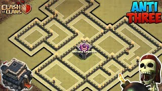 AWESOME TOWN HALL 9 WAR BASE 2017! TH9 ANTI 3 STAR WAR BASE WITH REPLAYS!! - CLASH OF CLANS(COC)