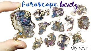 Watch Me Resin: Glitter Galaxy Zodiac/Daily Horoscope Open Bezel Tutorial