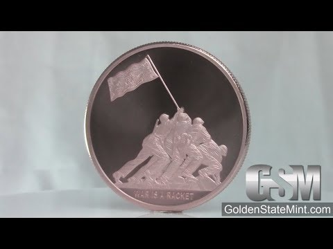 Golden State Mint - 1 oz War is a Racket MiniMintage Copper  bullion round/ Silver Shield
