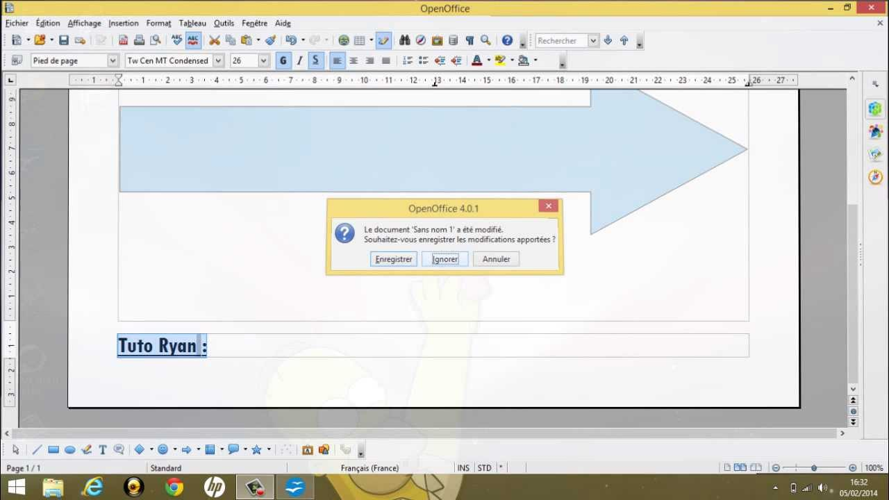 Tuto comment passer d 39 un format a4 a un format paysage sur openoffice youtube - Faire un camembert sur open office ...