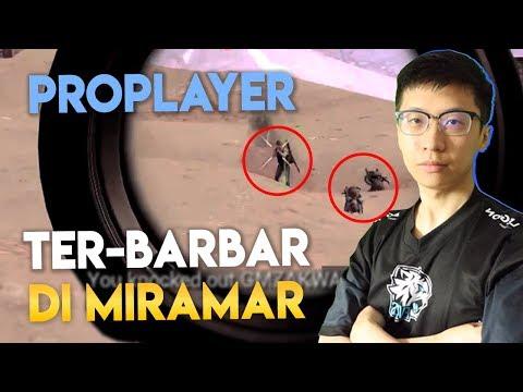 EVOS EJ PROPLAYER PALING BARBAR? 1 VS SQUAD MIRAMAR! - PUBG Mobile