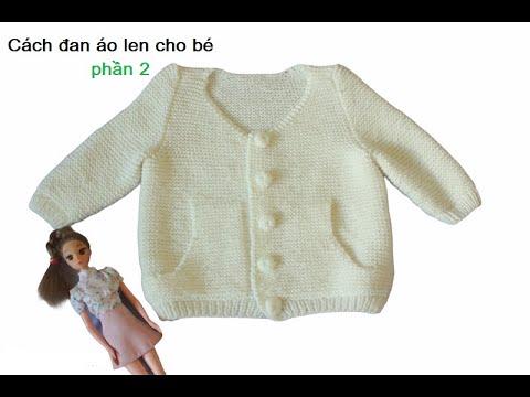 Đan áo len có túi p2