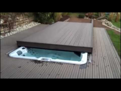Custom Rolling Deck Option Available On Riptide Swim Spas