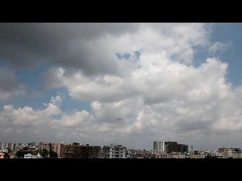 Dance of CumulusClouds in Patna during Post Monsoon Season HD