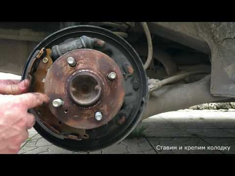 Hyundai Accent - замена задних колодок