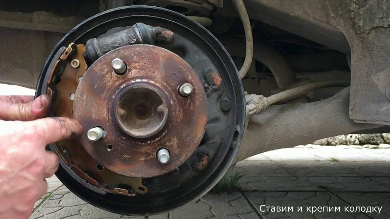 Замена задних тормозных колодок Hyundai Accent (Хендай) 22