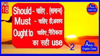 Where to use Should,must,ought to कहां उपयोग करना चाहिए, चाहिए, चाहिए sikhe office word in english