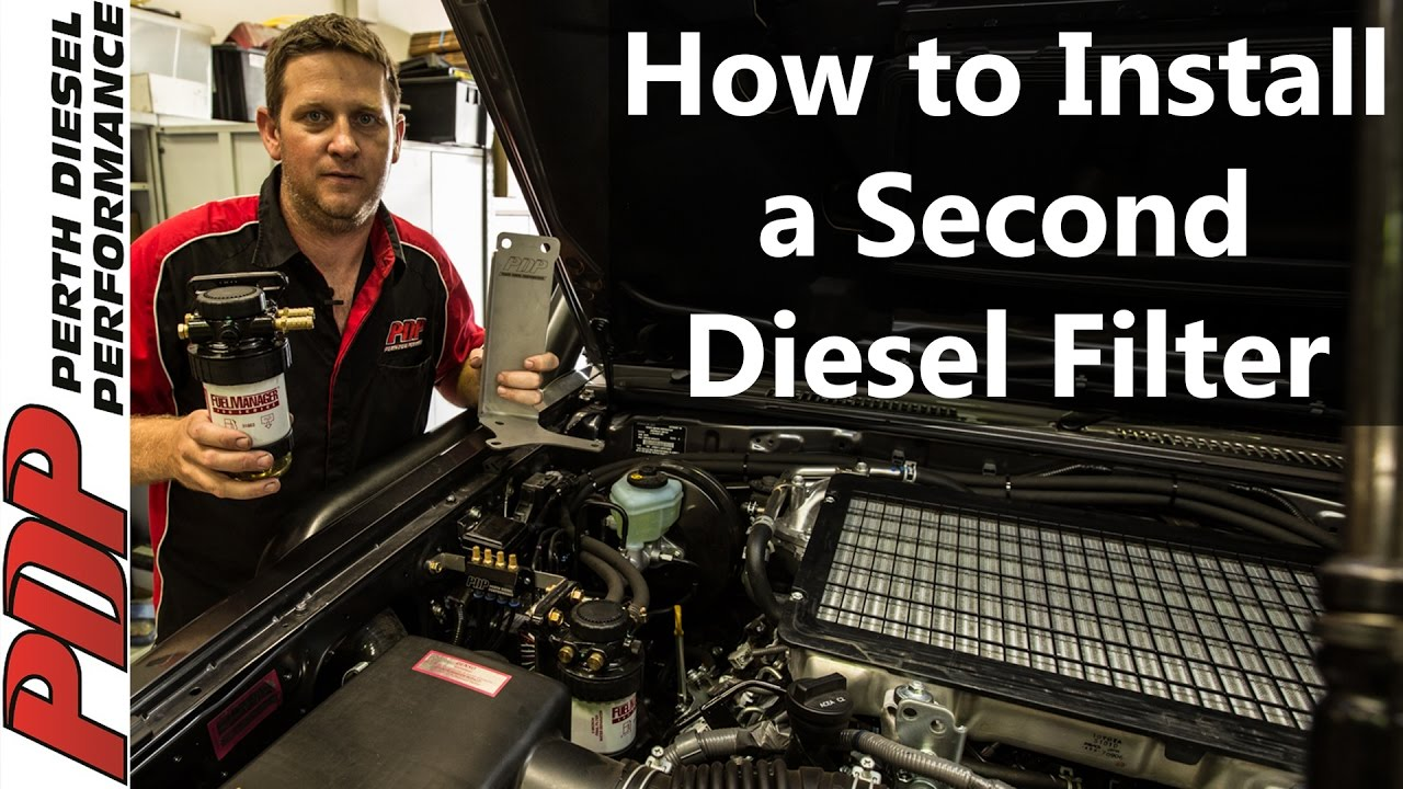 how to install your pdp 2nd diesel fuel filter [ 1280 x 720 Pixel ]