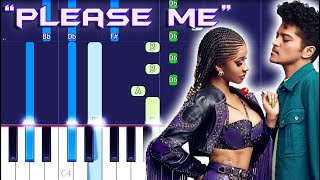 Cardi B & Bruno Mars - Please Me Piano Tutorial EASY (Piano Cover)