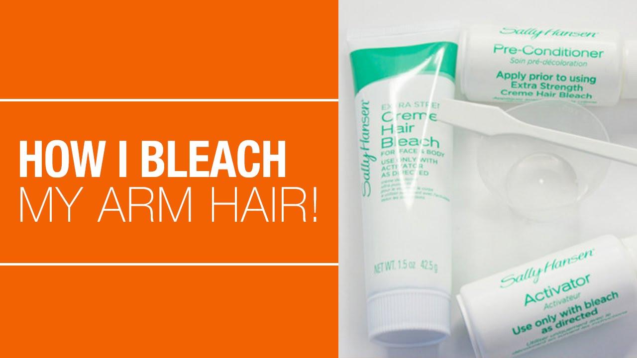 How To Bleach Arm Hair