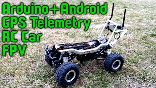 RC car GPS telemetry (arduino + nRF24L01 + android)