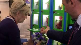 видео Продажа цветов через вендинговые автоматы (флороматы)