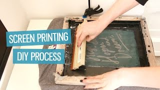 How to screen print t-shirts at home (DIY method) | CharliMarieTV(An in-depth explanation of how to screen print your own t-shirts talking through how to expose your screens, and how to use them. Get the PDF guide when you ..., 2015-11-08T16:54:22.000Z)