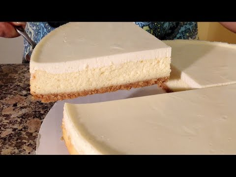 New York Cheesecake Recipe-Sour Cream Topping-Graham Cracker Crust-New York