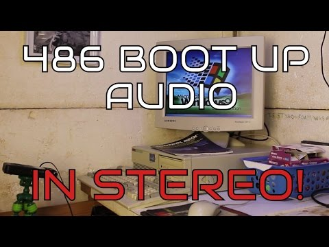 Retro PC: 486 Full Boot Audio in Stereo - Retro Gaming PC - Windows 98 Boot