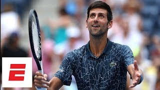 2018 US Open highlights: Novak Djokovic overcomes 2nd-set loss, heat in victory | ESPN