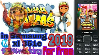 Downloading subway surfers game in Samsung metro xl 351e phone 2019