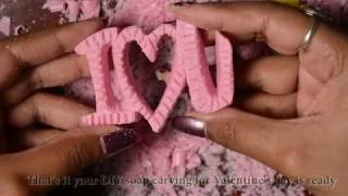 easy soap carving for your loved ones   how to carve soap for beginners   soap carving heart design