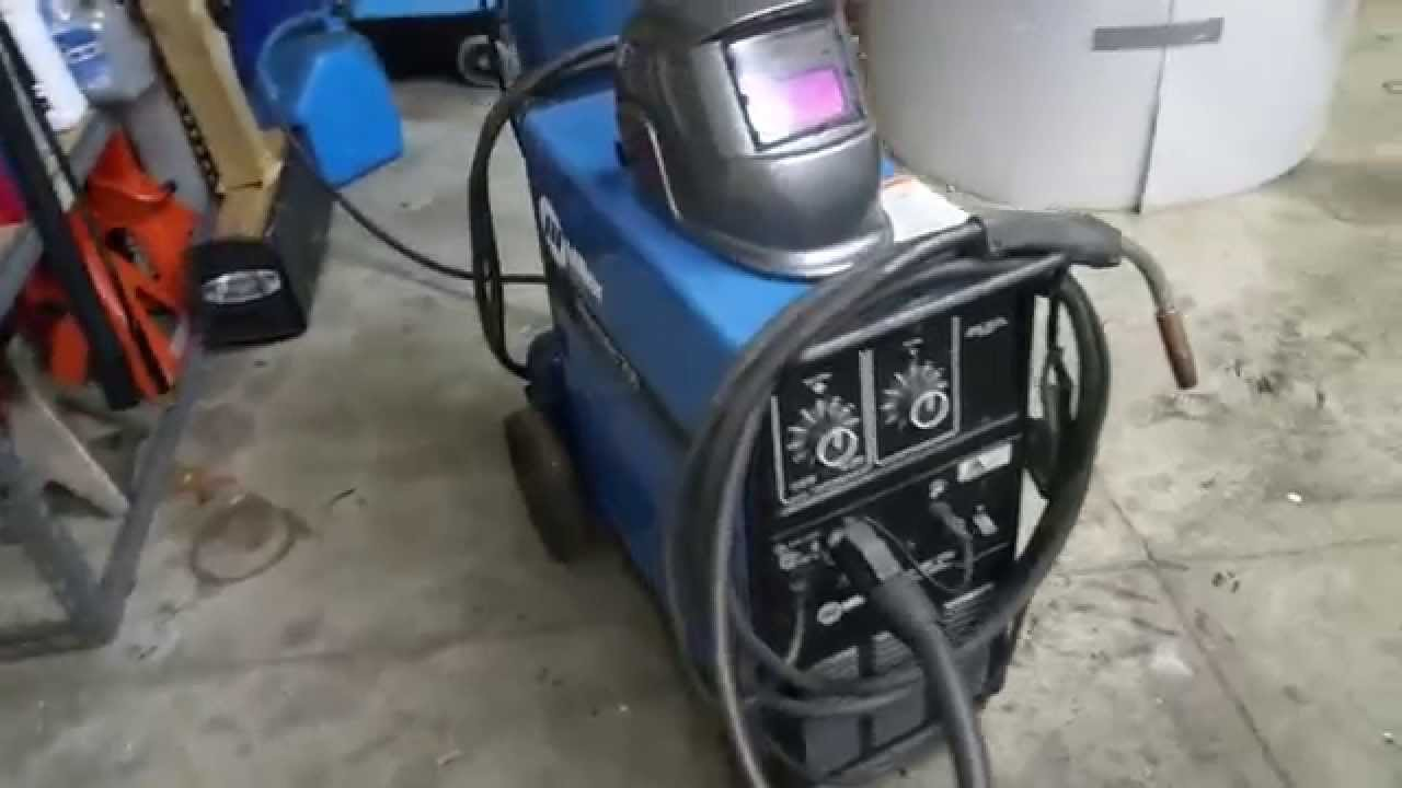 Millermatic 250 welding set up - YouTube