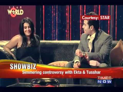 Tushar and Ekta brew controversy on KJo's couch