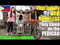 Travel to the Philippines and Meet Local Filipinos. Homeless Filipino Family Living on the Street