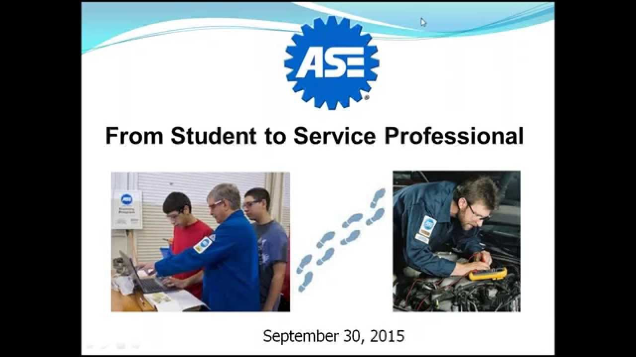 Ase From Student To Service Professional Youtube